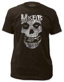 Misfits - Distressed Skull (slim fit) Magliette