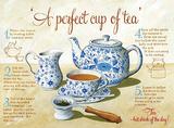 Perfect Tea Blechschild von Martin Wiscombe