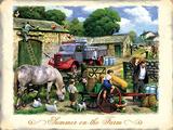 Summer Farm Blechschild von Kevin Walsh