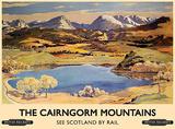 The Cairngorm Mountains Blechschild
