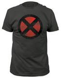 X-Men - Distressed X-Men Logo (slim fit) T-Shirt