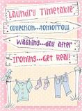 Laundry Timetable Blechschild