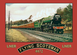 Flying Scotsman Carteles metálicos
