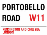 Portobello Road Blechschild