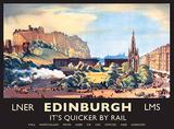 Edinburgh Blechschild