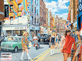 Carnaby Street 2 Tin Sign by Trevor Mitchell