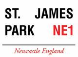 St. James Park Tin Sign