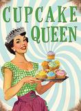 Cupcake Queen Blechschild