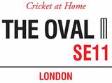 The Oval Blikkskilt