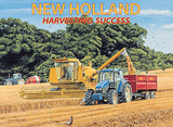 New Holland Harvesting Success Tin Sign by Trevor Mitchell