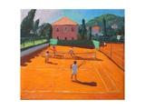 Clay Court Tennis, Lapad, Croatia, 2012 Giclée-Druck von Andrew Macara