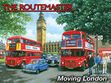 Routemaster - Moving London Tin Sign by Kevin Walsh