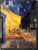 The Café Terrace on the Place du Forum, Arles, at Night, c.1888 Framed Print Mount by Vincent van Gogh