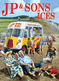 J P & Sons Ices Tin Sign by Kevin Walsh