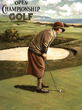 Open Golf Female Carteles metálicos por Kevin Walsh
