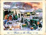 Farm im Winter Blechschild von Kevin Walsh