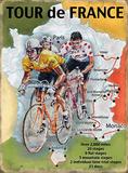 Tour de France - Map Plaque en métal