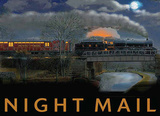 Night Mail Tin Sign by Trevor Mitchell