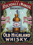 Rochdale & Manor - Old Highland Whisky Plaque en métal