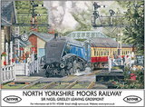 North Yorkshire Moors Railway Tin Sign by Trevor Mitchell