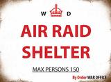 Air Raid Shelter Blechschild