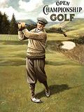 Open Golf Male Carteles metálicos por Kevin Walsh