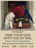 I'm Ready - White Dog Plåtskylt