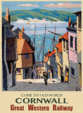 Olde World Cornwall Carteles metálicos