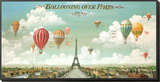 Ballooning Over Paris Framed Print Mount by Isiah and Benjamin Lane