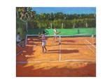 Tennis Practise , Cap d'Adge, France, 2013 Giclée-Druck von Andrew Macara