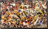 Convergência Impressão montada e emoldurada por Jackson Pollock