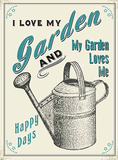 I Love My Garden Tin Sign