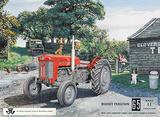 Massey Ferguson 65 Carteles metálicos por Trevor Mitchell
