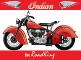 Indian - Road King Plaque en métal