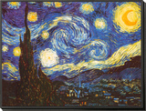 Starry Night, c.1889 Framed Print Mount by Vincent van Gogh
