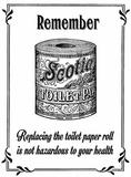 Scotie Toilet Roll Blechschild