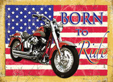 Born to Ride Blechschild