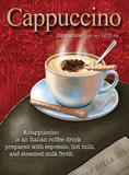 Cappuccino Plaque en métal