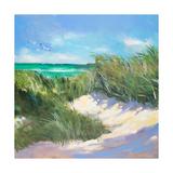 Blue Grass Breeze I Premium Giclee Print by Jane Slivka