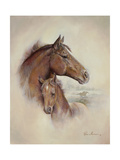 Race Horse II Lámina giclée prémium por Ruane Manning