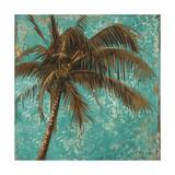 Palm on Turquoise I Impressão giclée premium por Patricia Pinto
