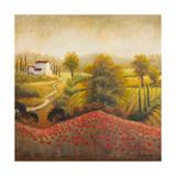 Flourishing Vineyard Square I Premium Giclee Print by Michael Marcon