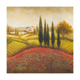 Flourishing Vineyard Square II Premium Giclee Print by Michael Marcon