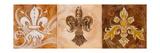 Fleur de Lis Trio Prints by Thomas Riker