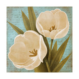 Blue Morning Tulips II Posters by Vivien Rhyan
