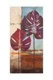 Red Leaves II Reproduction giclée Premium par Patricia Pinto