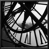 Orsay Clock Print by Tom Artin