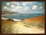 Caminho através de milharal em Pourville, cerca de 1882 Posters por Claude Monet
