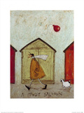A Moody Balloon Print by Sam Toft