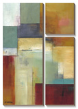 Abstract Green Prints by W. Green-Aldridge